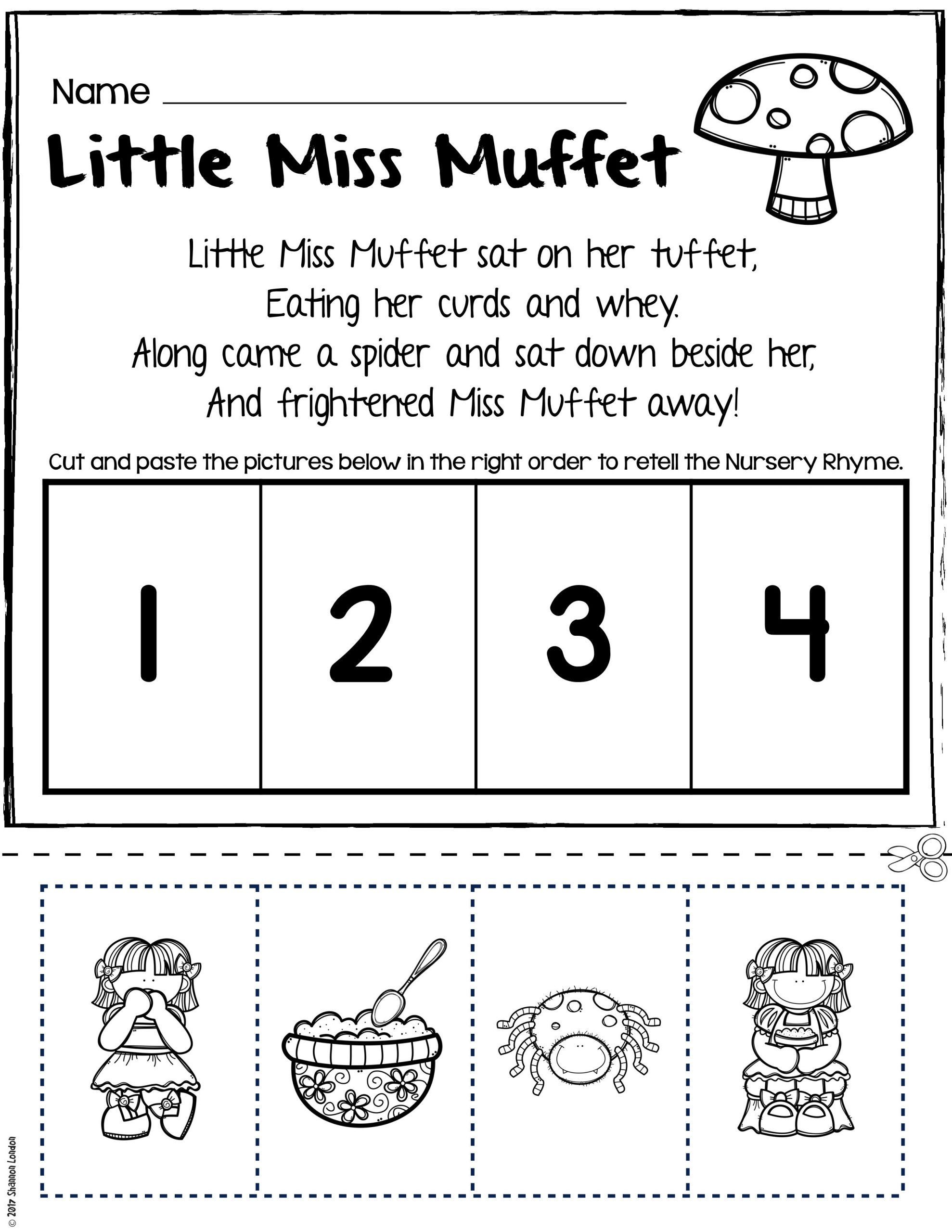 Humpty Dumpty Printable Book Nursery Rhymes Worksheets for Story Retelling Practice