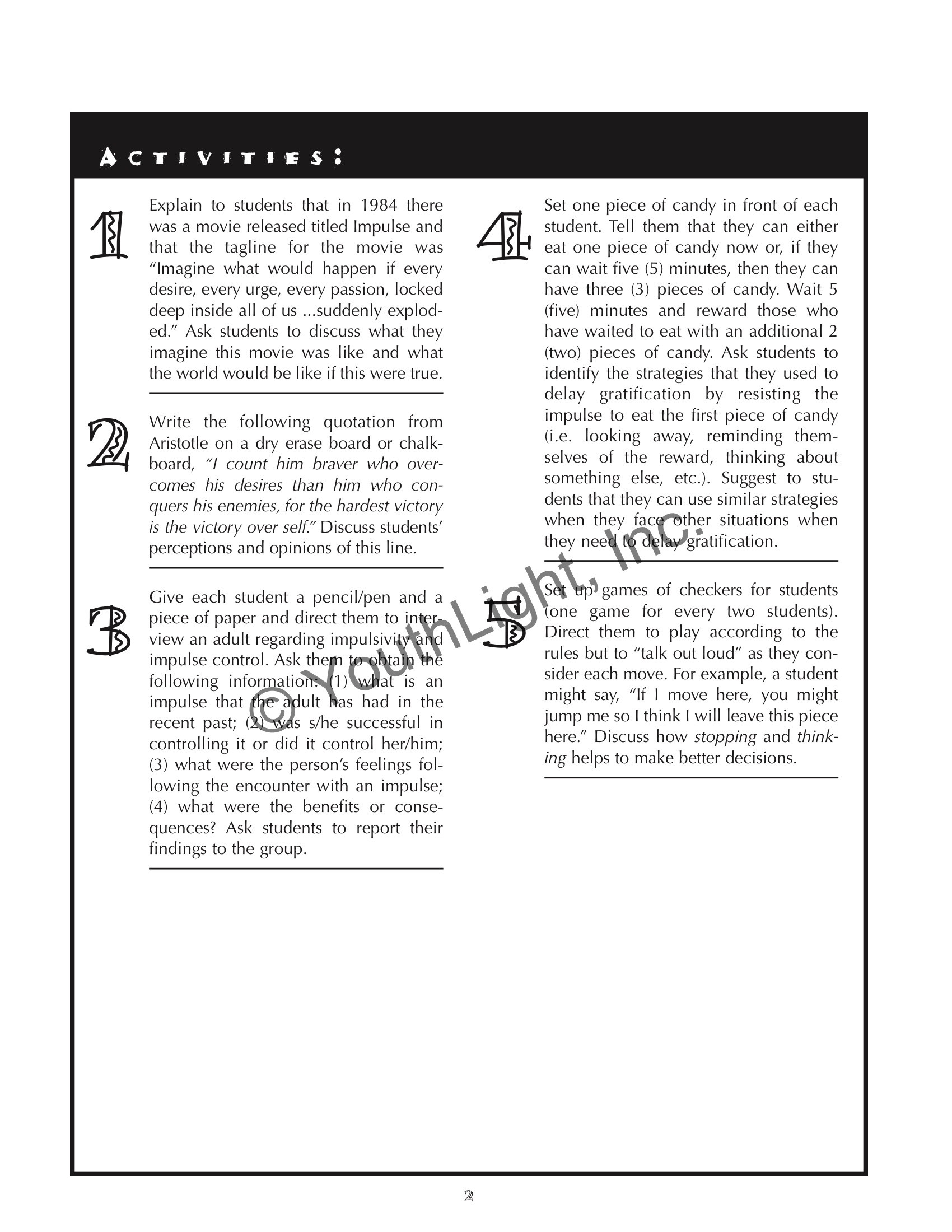 Impulse Control Worksheets Printable Worksheets Impulsivity for Teens