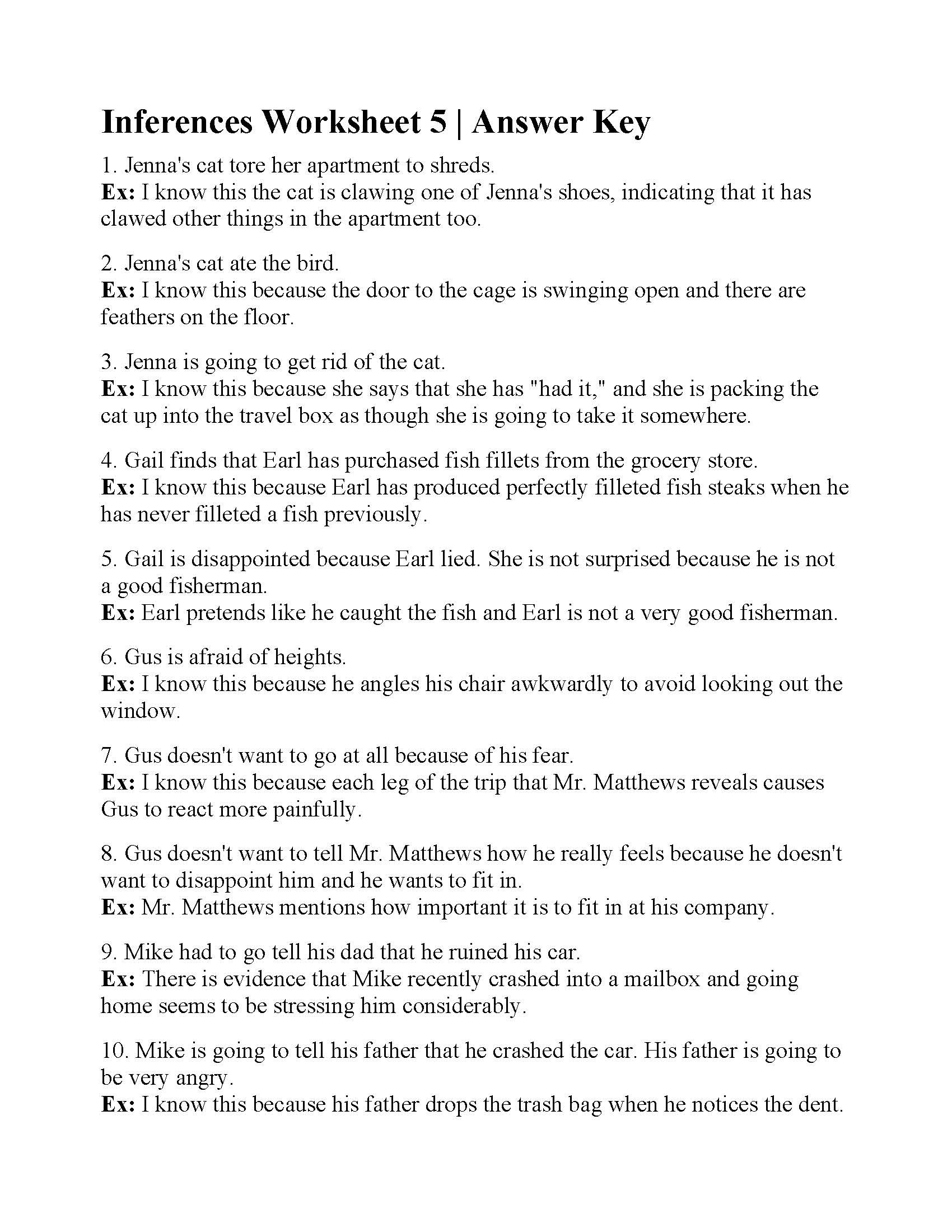 Inference Worksheets Grade 4 Hiddenfashionhistory Page 2 Multiplication Worksheets