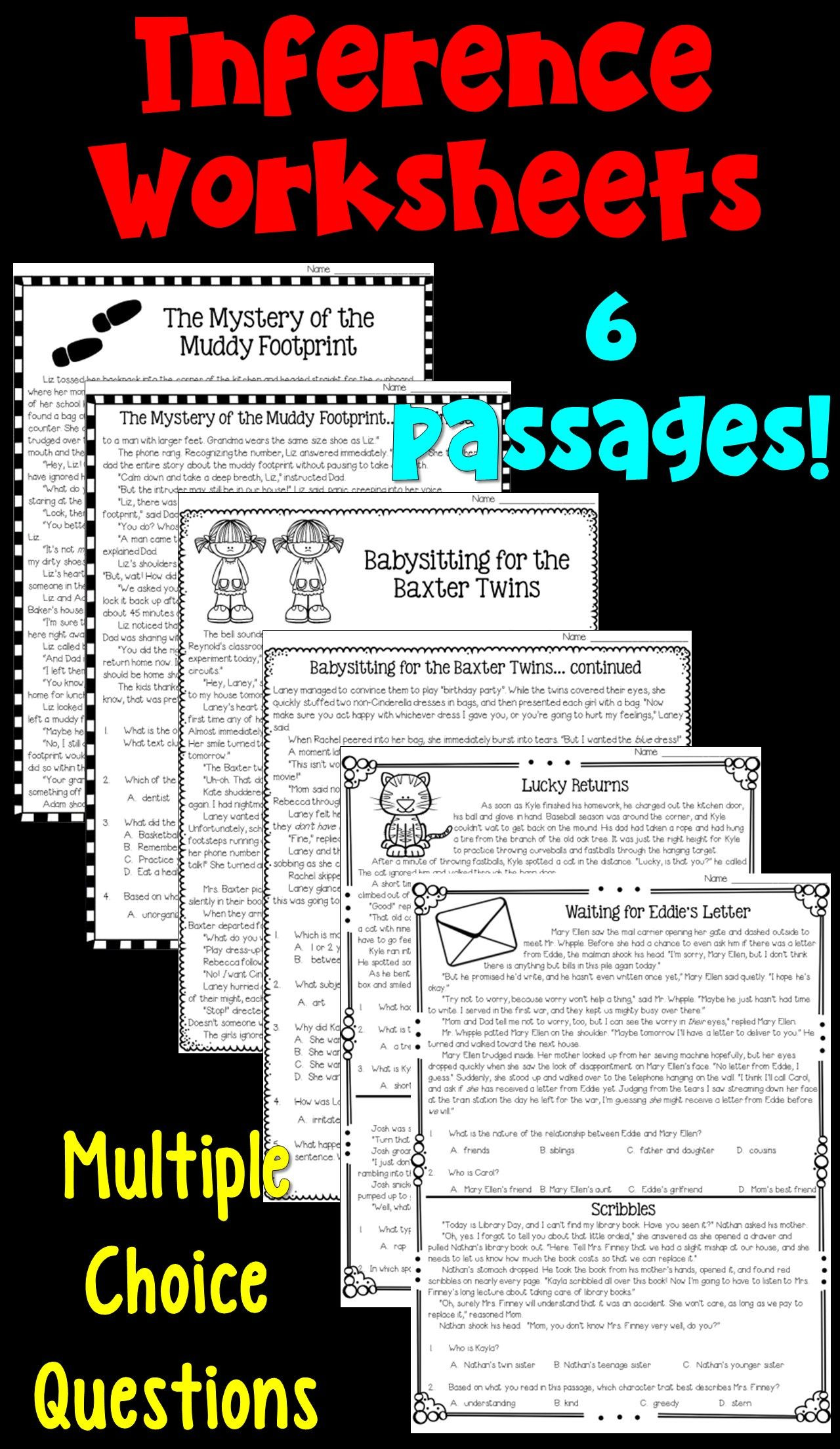 Inference Worksheets Grade 4 Inferences Worksheets Pdf and Digital