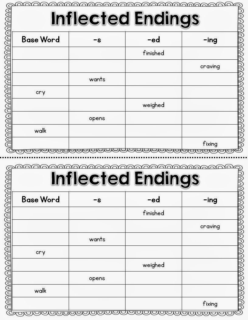 Inflected Endings Worksheets 2nd Grade Guided Reading and Intervention with Freebies with