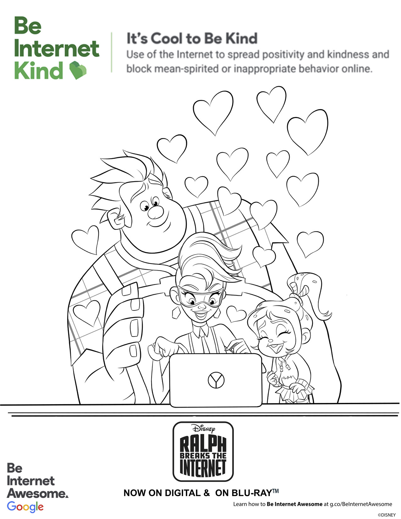 Internet Safety Worksheets Printable Internet Safety Activity Pages with Ralph Breaks the