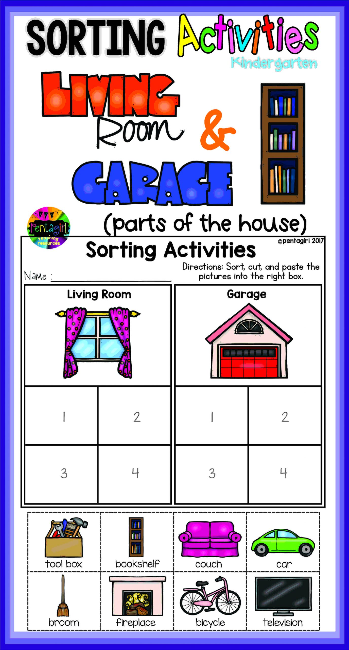 Kindergarten Math sorting Worksheets Kindergarten sorting Activities In This Fun Product the