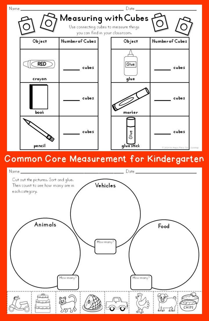 Kindergarten Math sorting Worksheets Measurement for Kindergarten
