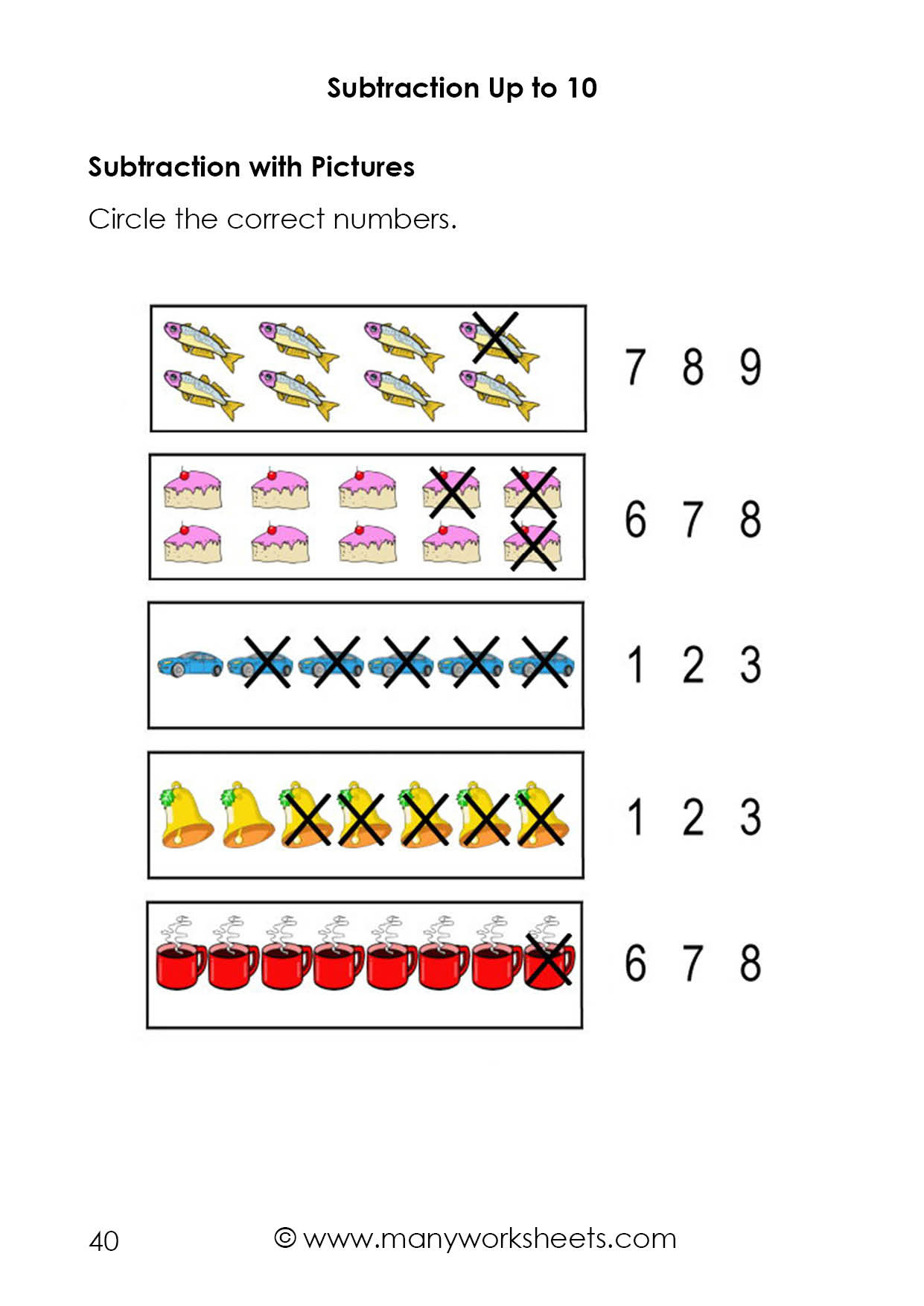 Kindergarten Subtraction Worksheets Free Printable Subtraction with Worksheets