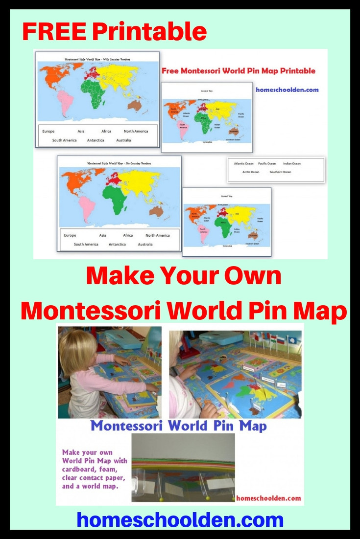 Label Continents and Oceans Printable Montessori Geography Activities Free Montessori World Map