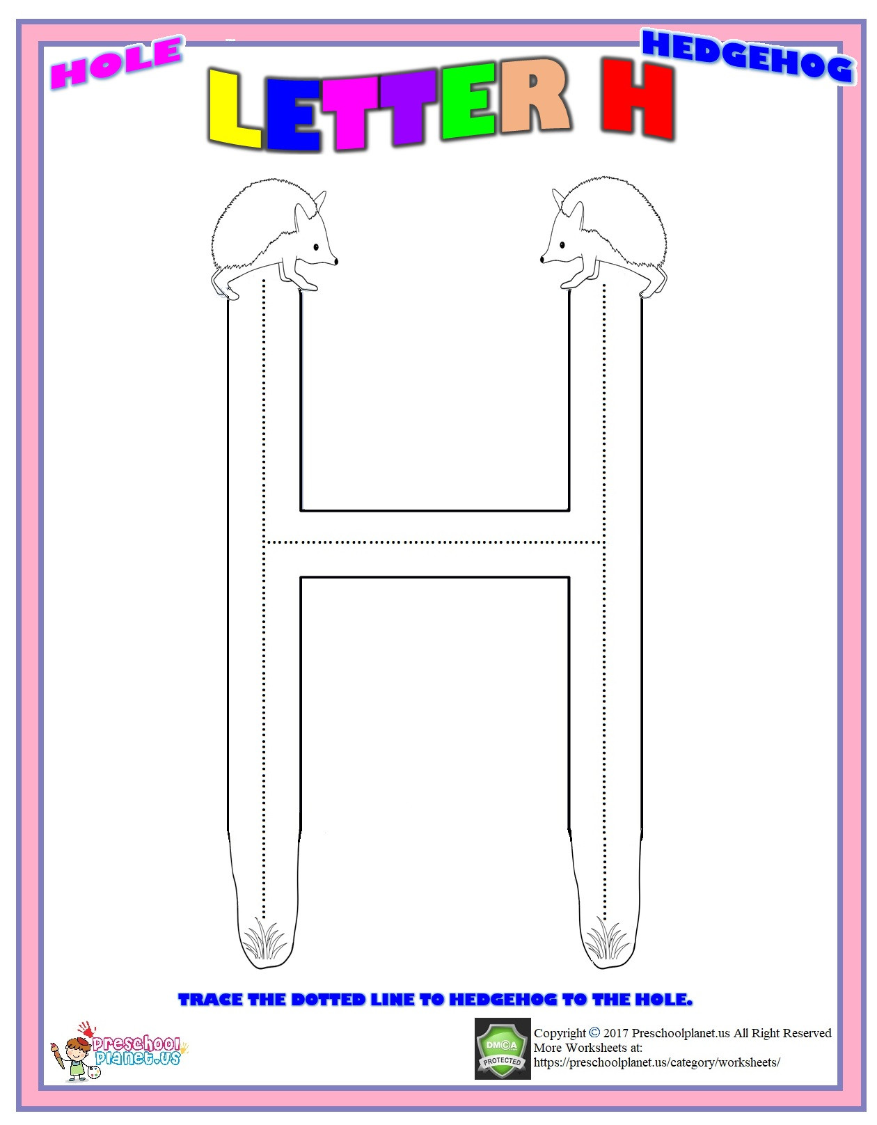 Letter H Worksheets for Preschoolers Letter H Worksheet – Preschoolplanet