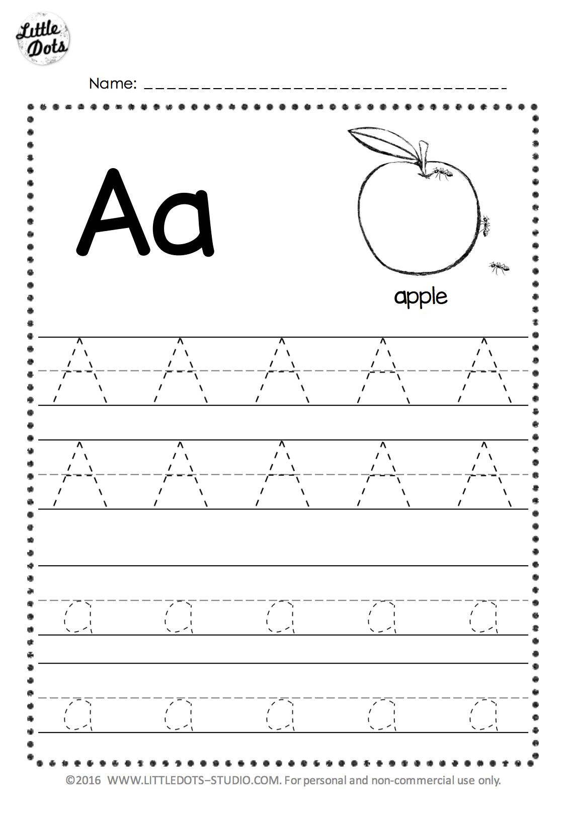 Letter K Tracing Worksheets Preschool Free Letter A Tracing Worksheets