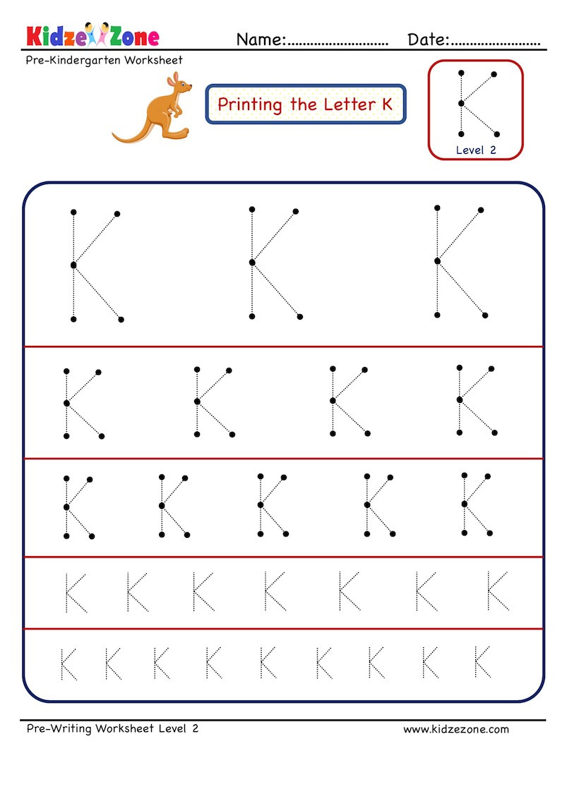 Letter K Tracing Worksheets Preschool Preschool Letter Tracing Worksheet Letter K Different