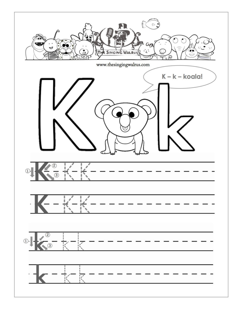 Letter K Tracing Worksheets Preschool Worksheet Free Printable Letter K Barka astonishing