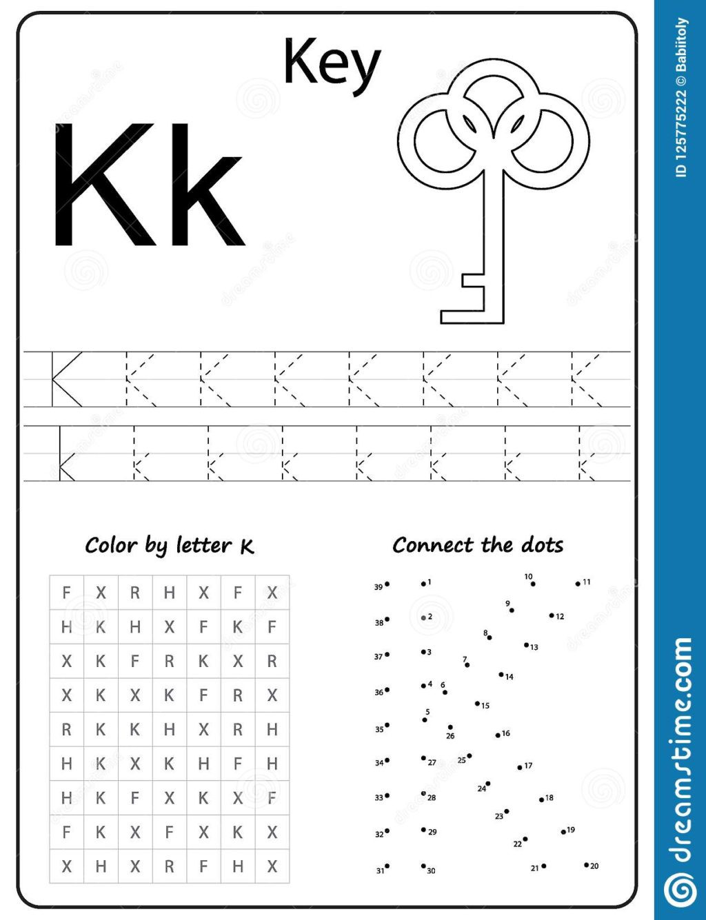 Letter K Tracing Worksheets Preschool Worksheet Kheets for Preschool Free Printable toddlers