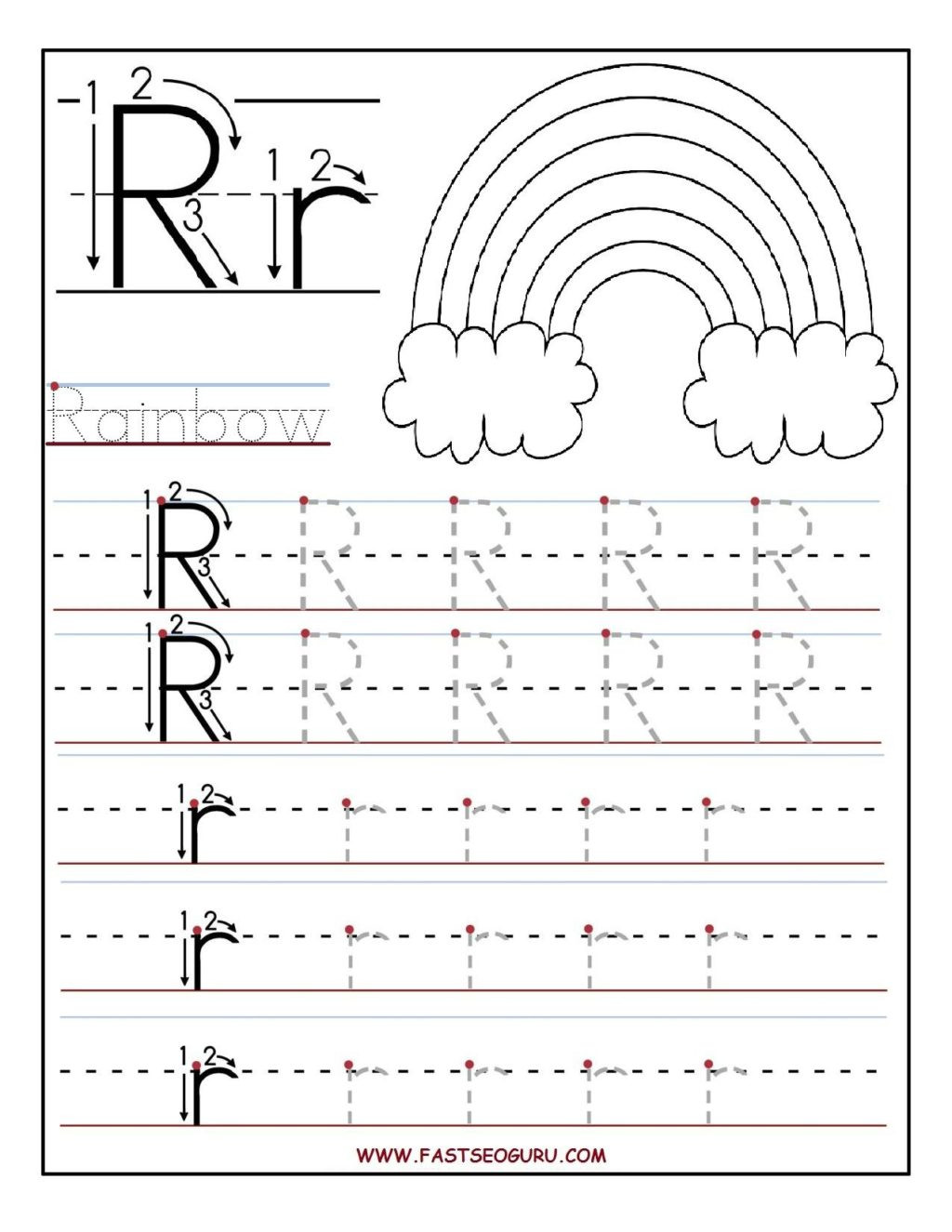Letter K Tracing Worksheets Preschool Worksheet Letter Trace Worksheet Free Printable Worksheets