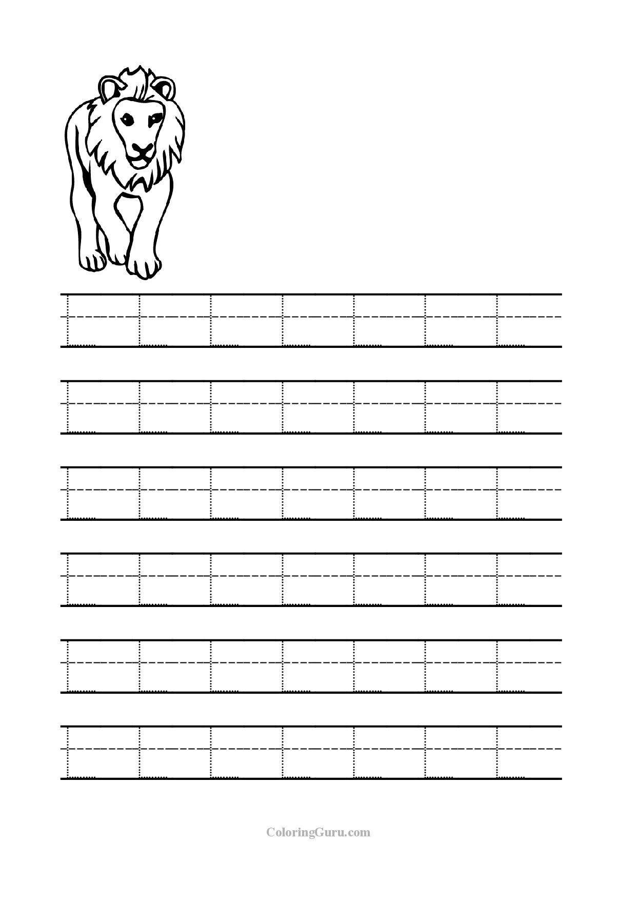 Letter L Worksheet Preschool Free Printable Tracing Letter L Worksheets for Preschool