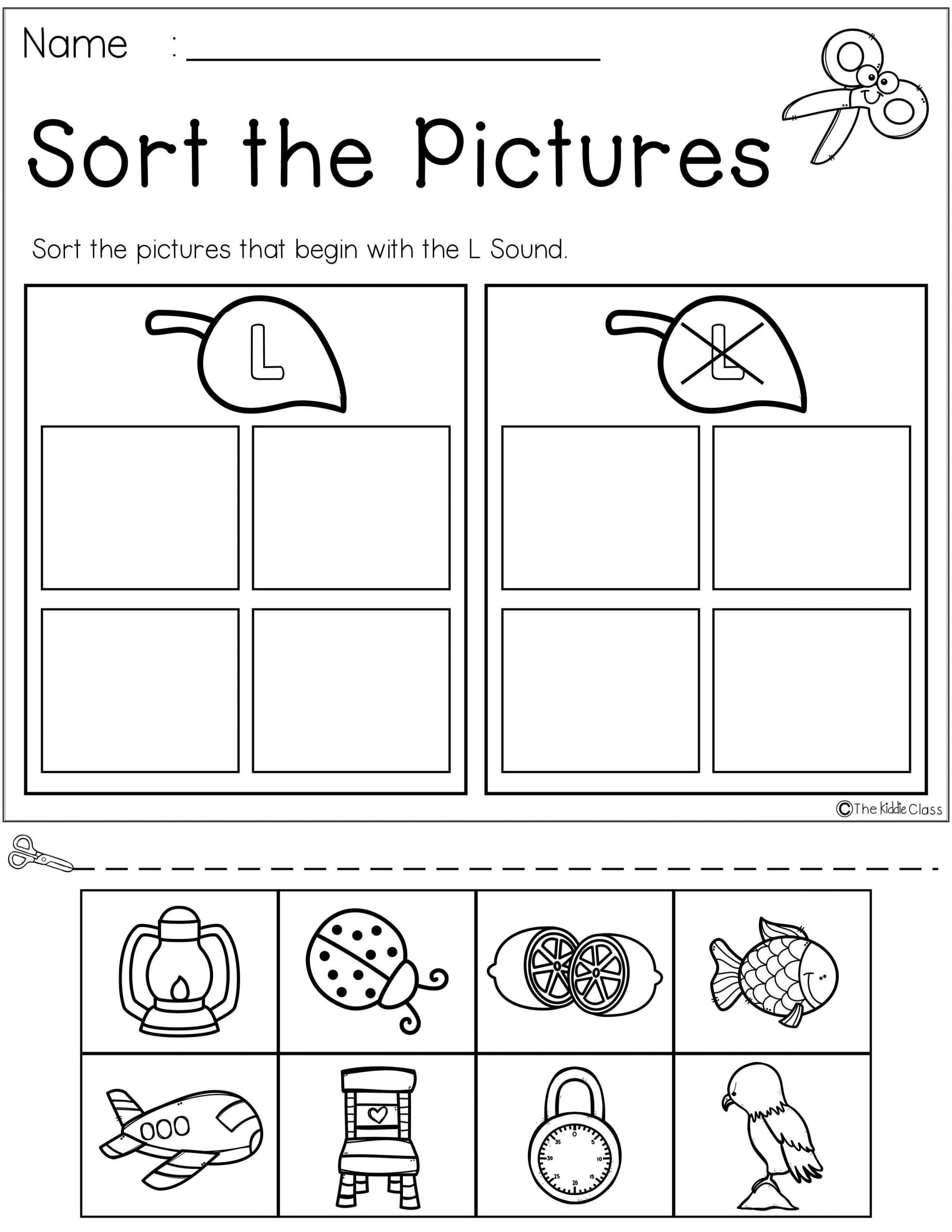 Letter L Worksheet Preschool Letter Of the Week L