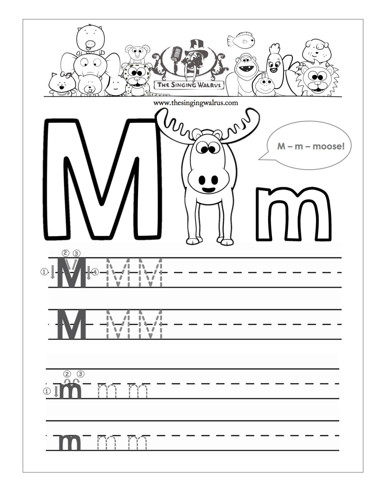 Letter M Worksheets for Preschoolers Beautiful Letter M Writing Worksheet