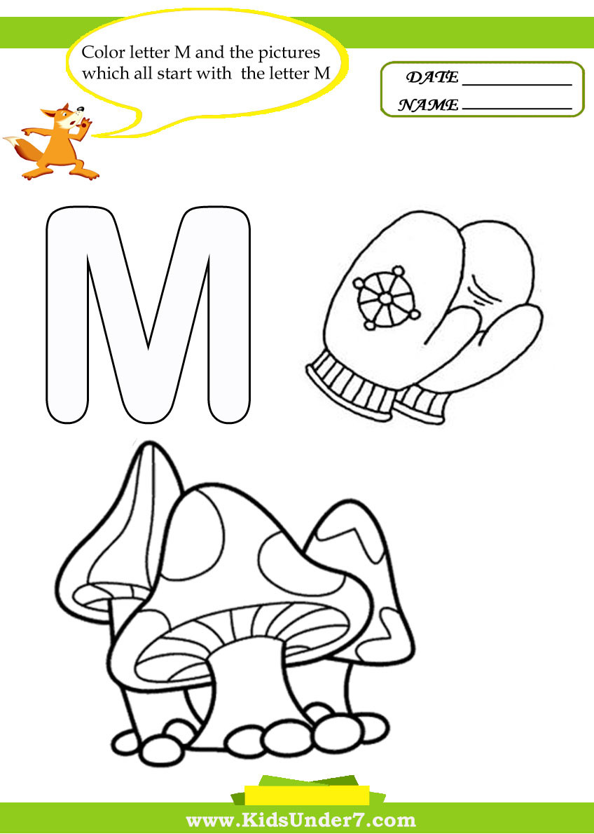 Letter M Worksheets for Preschoolers Kids Under 7 Letter M Worksheets and Coloring Pages