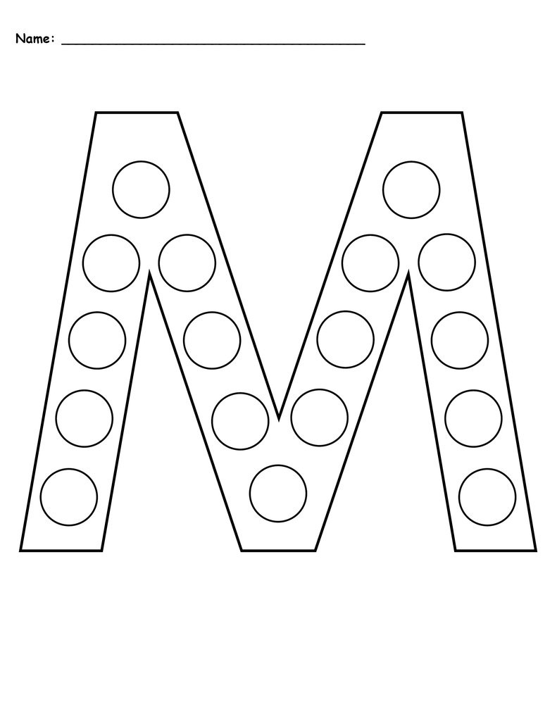 Letter M Worksheets Preschool Letter M Do A Dot Printables Uppercase & Lowercase