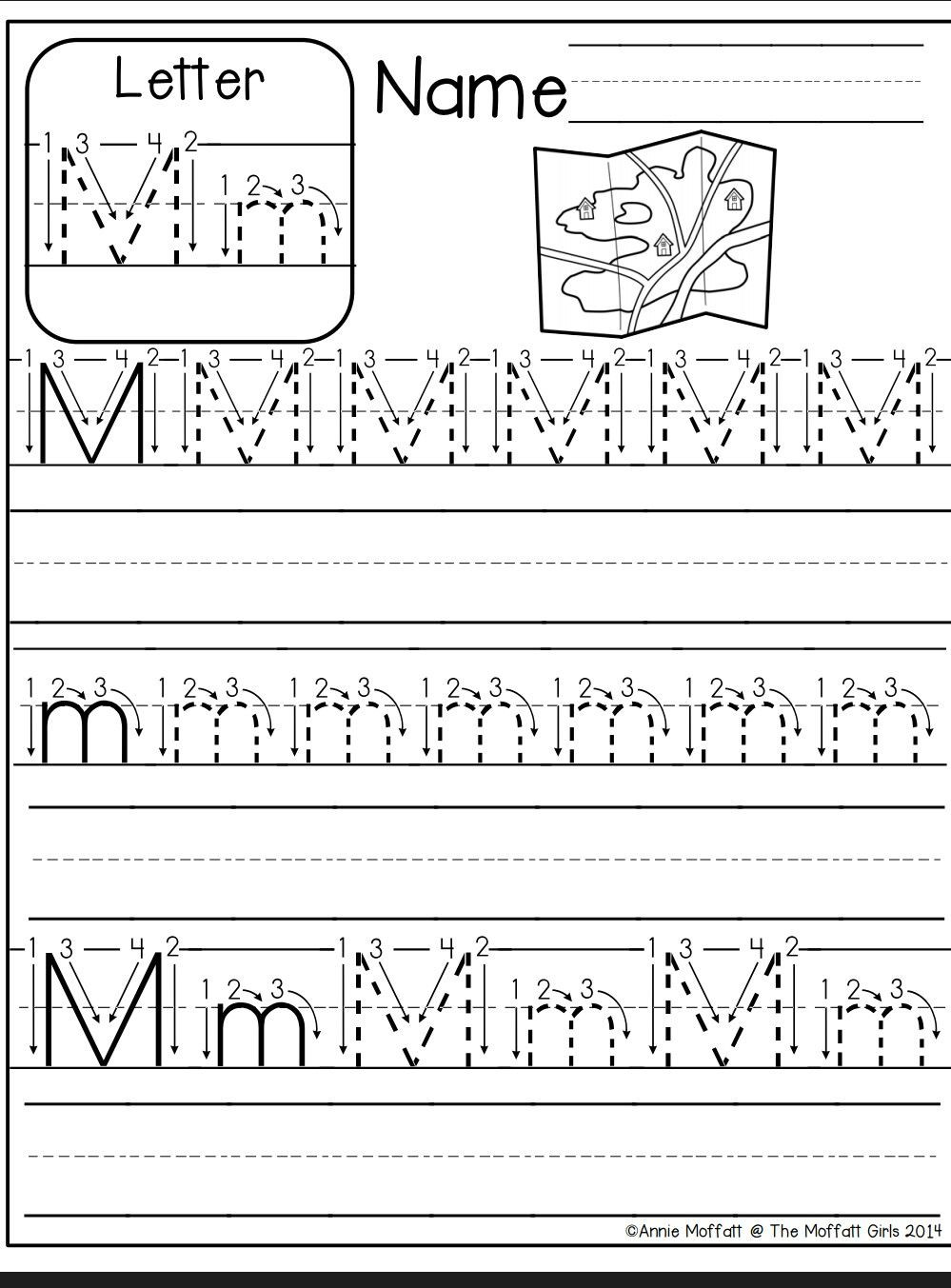 Letter M Worksheets Preschool Letter M Worksheet