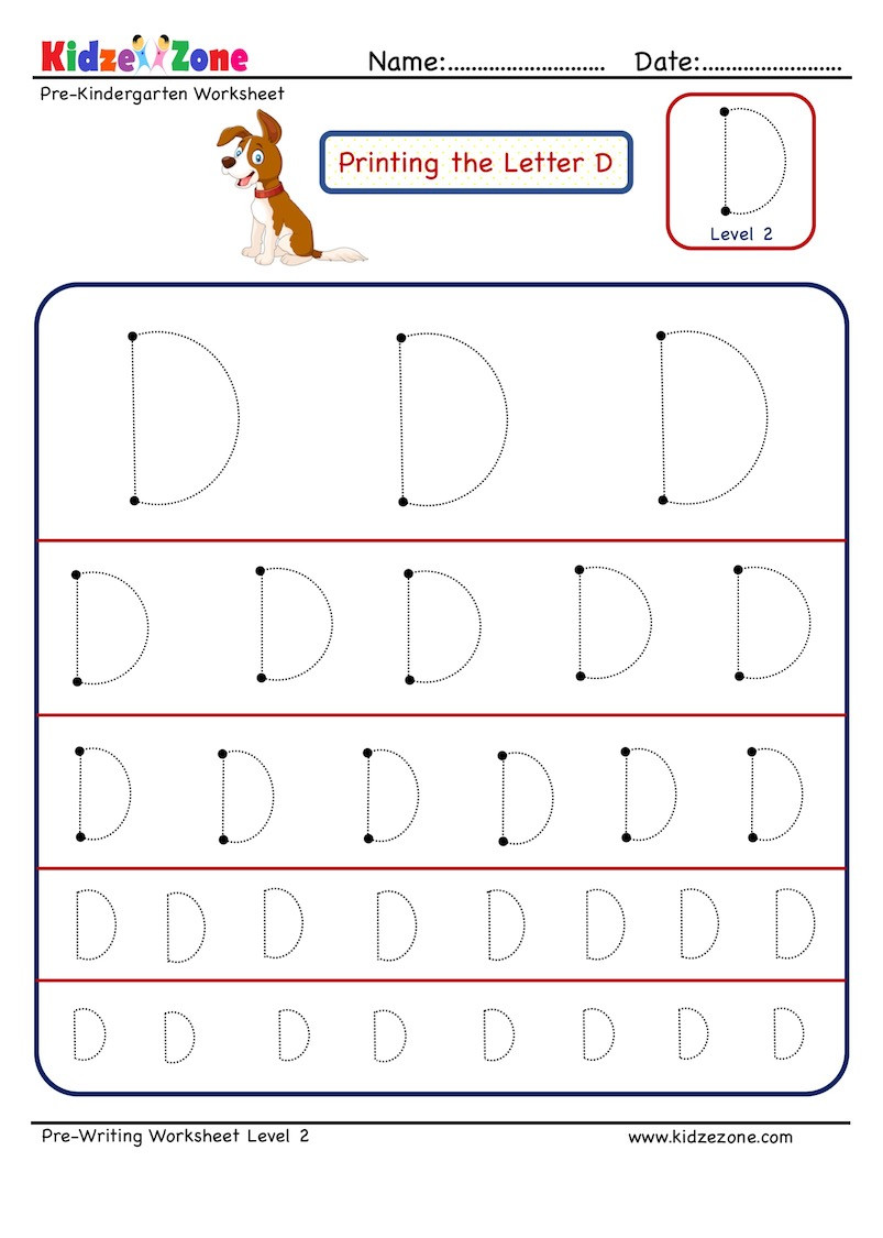 Letter N Tracing Worksheets Preschool Preschool Letter Tracing Worksheet Letter D Different