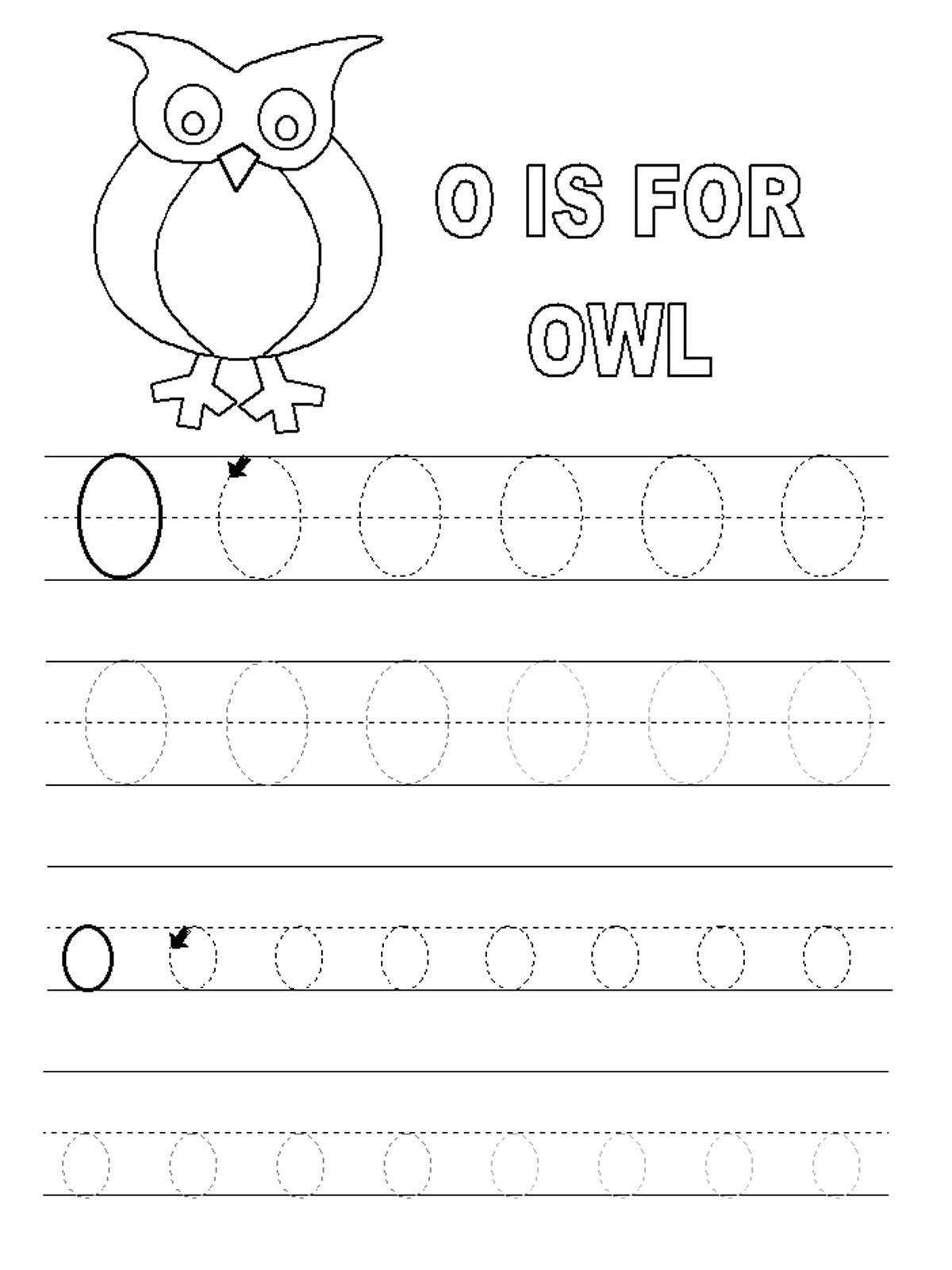 Letter O Worksheets for Preschool Free Line Worksheets