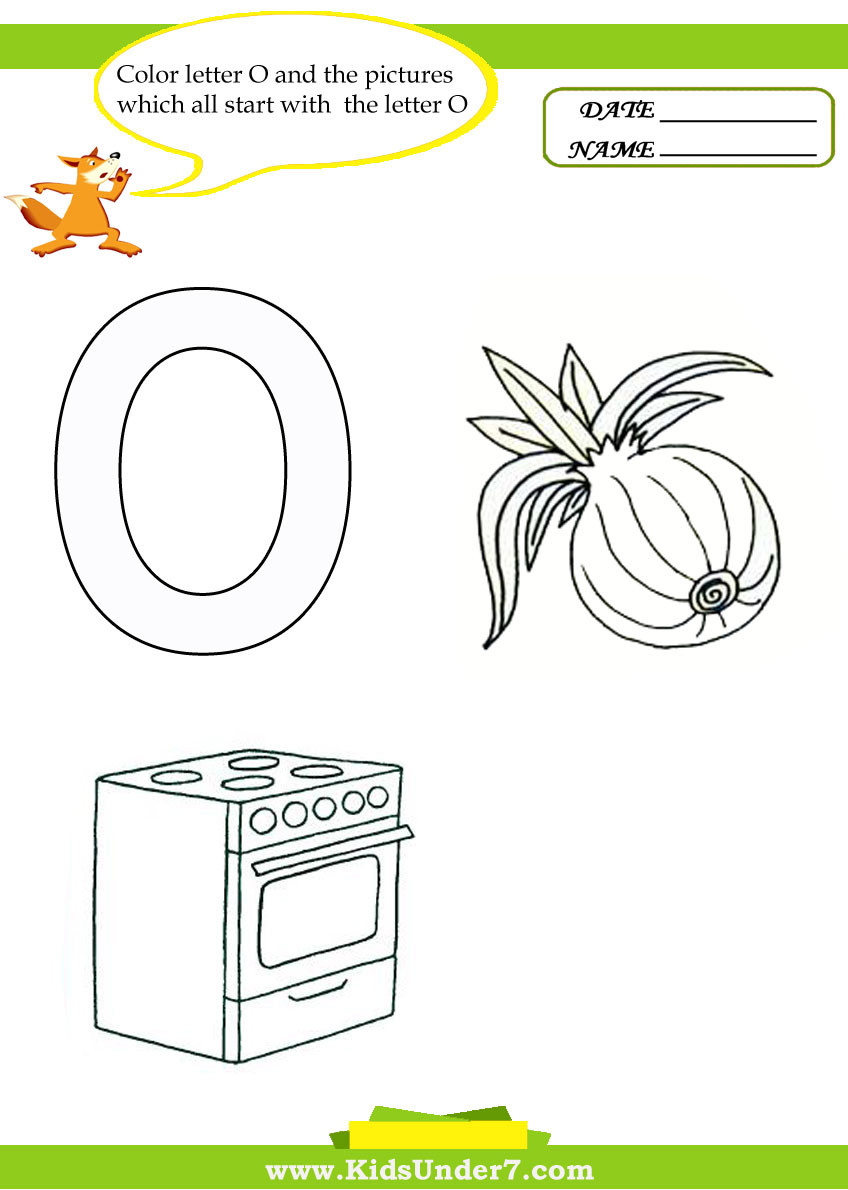 Letter O Worksheets for Preschool Kids Under 7 Letter O Worksheets and Coloring Pages