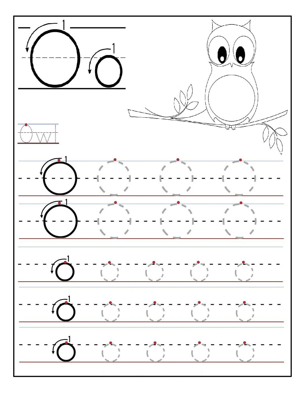Letter O Worksheets for Preschool Letter O Worksheets for Preschool