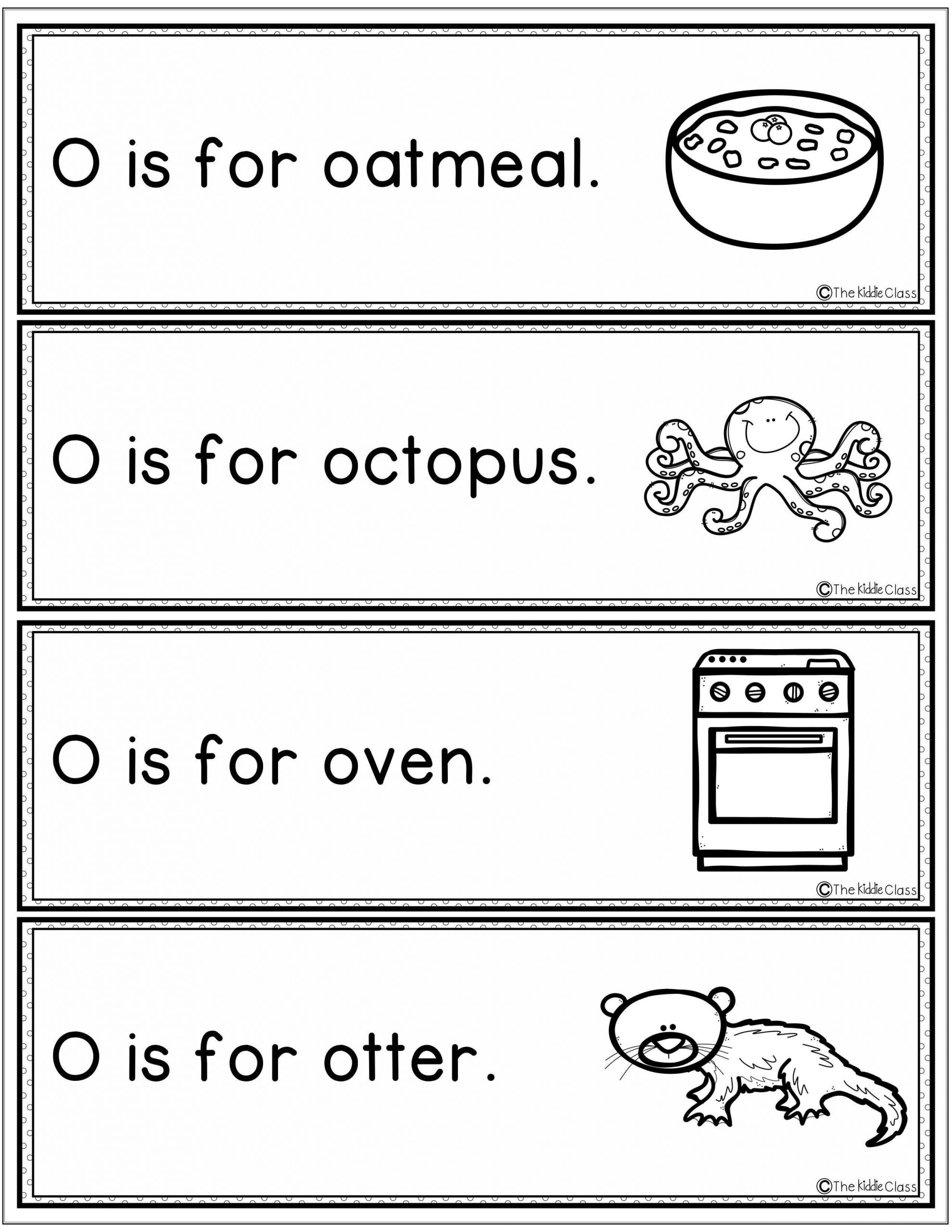 Letter O Worksheets for Preschool Letter Of the Week O