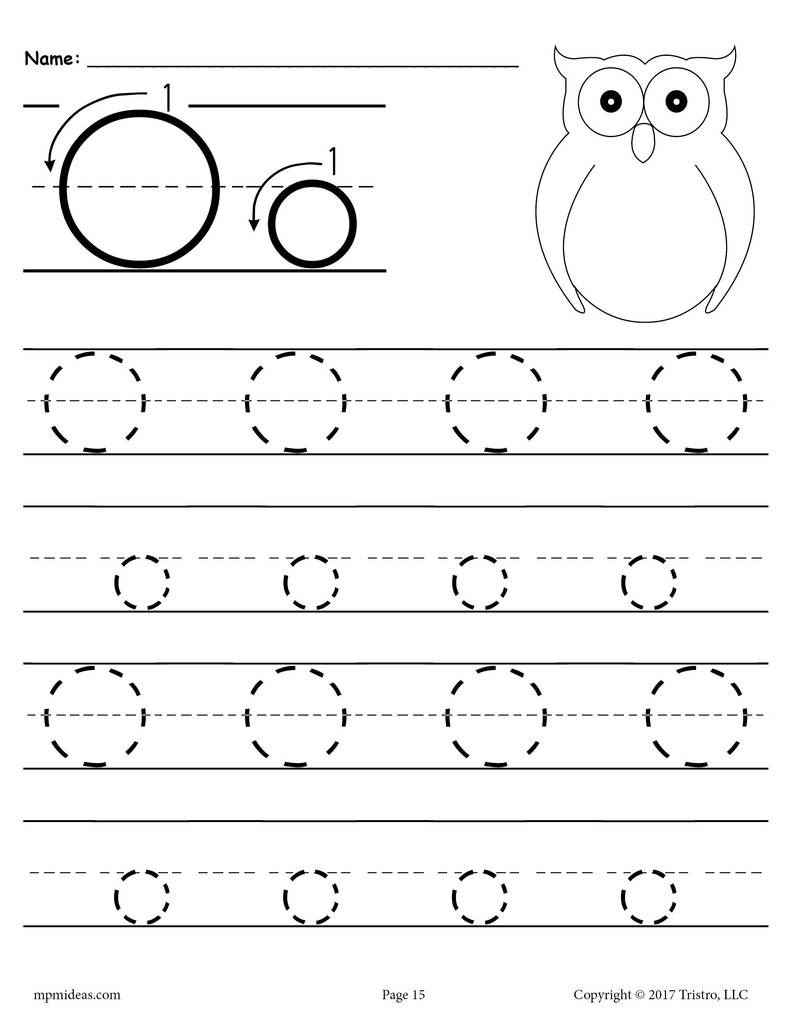 Letter O Worksheets for Preschool Worksheet Worksheet Preschool Tracingers O and Writing the