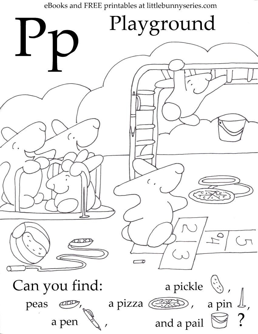 Letter P Preschool Worksheets Letter P Seek and Find Pdf