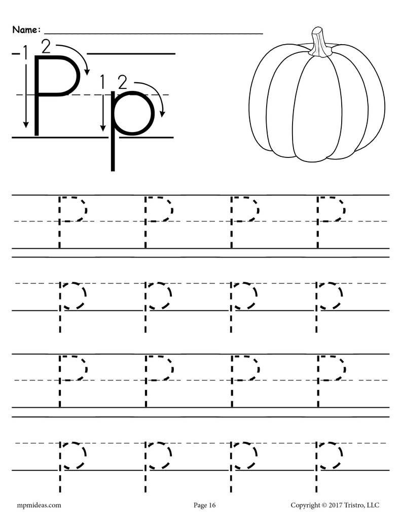 Letter P Preschool Worksheets Printable Letter P Tracing Worksheet