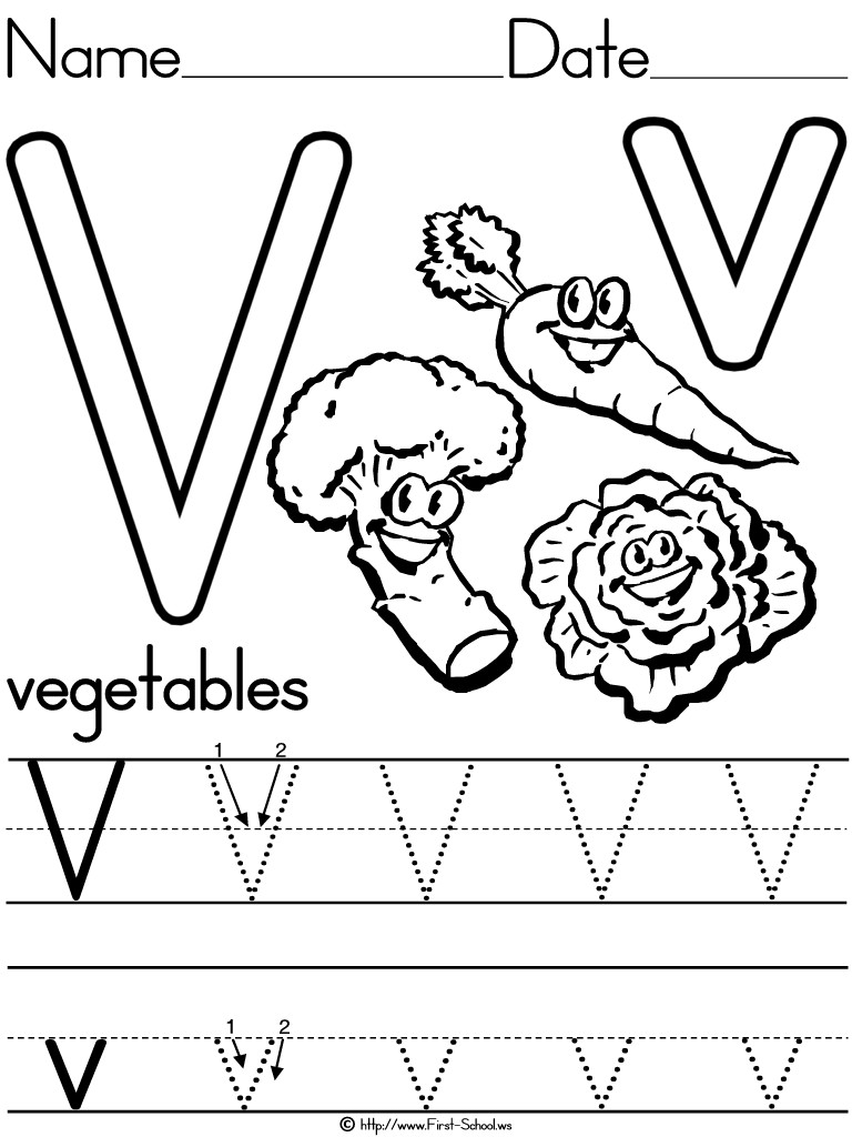 Letter V Worksheets Preschool 12 Learning the Letter V Worksheets