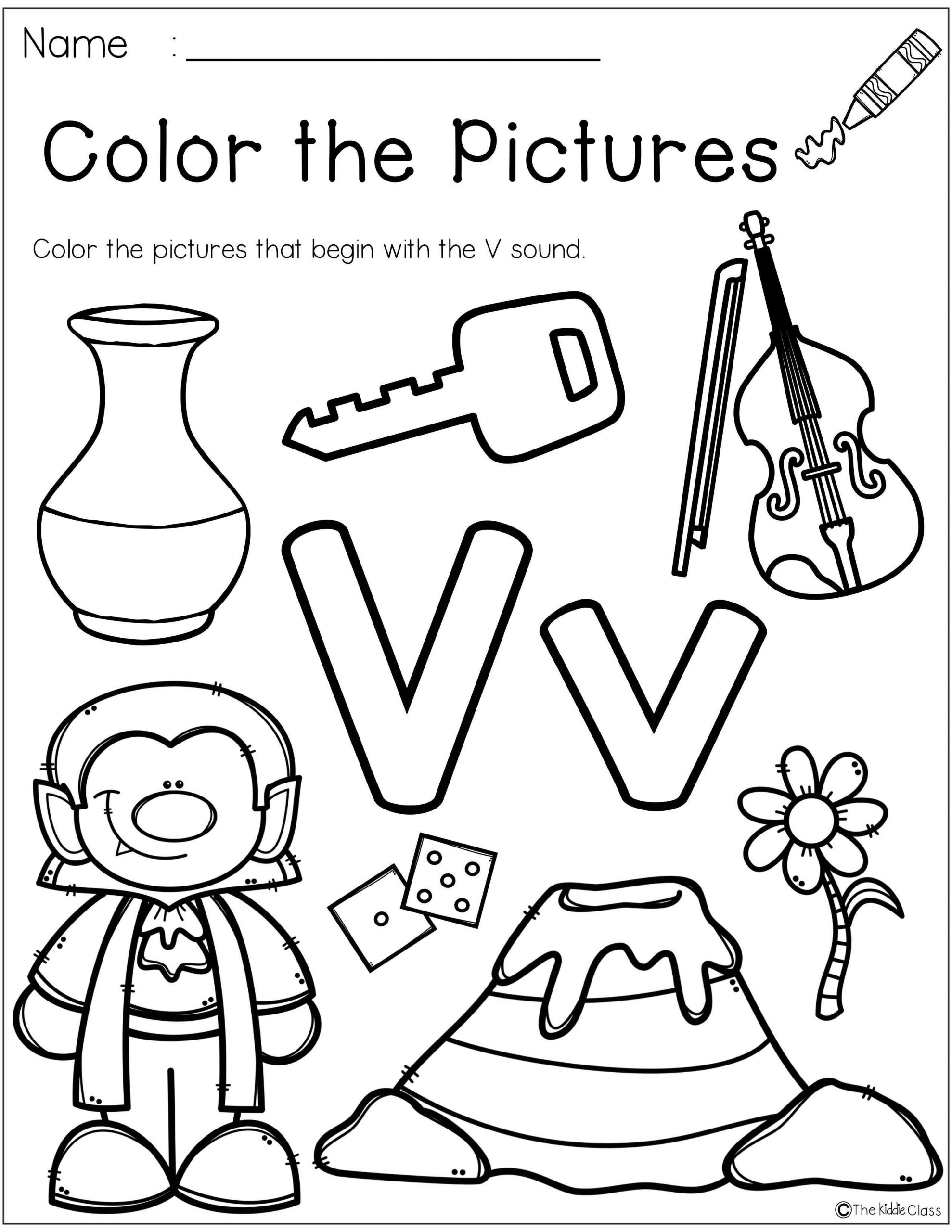 Letter V Worksheets Preschool Letter Of the Week V In 2020