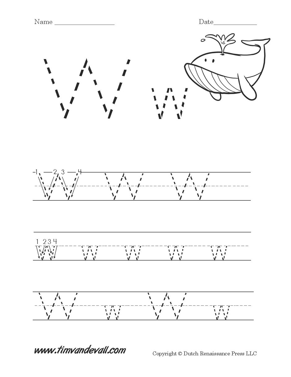Letter W Worksheets for Preschoolers 5 Ws Worksheet