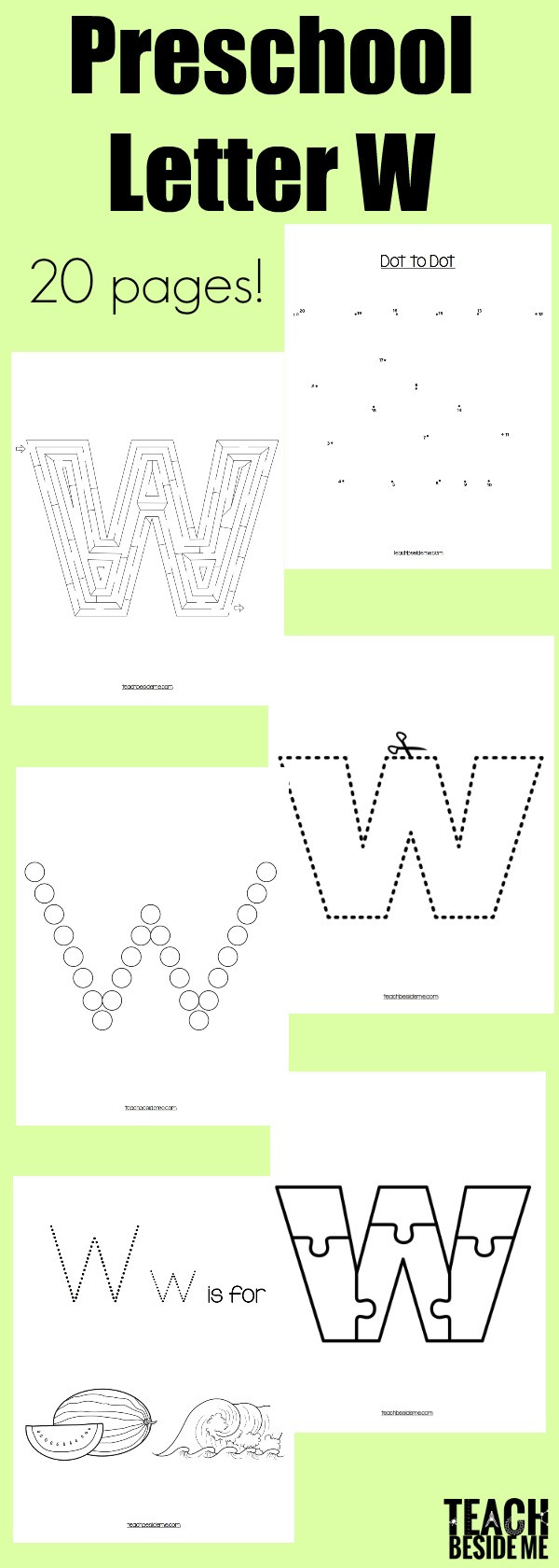 Letter W Worksheets for Preschoolers Letter Of the Week Preschool Letter W Activities – Teach