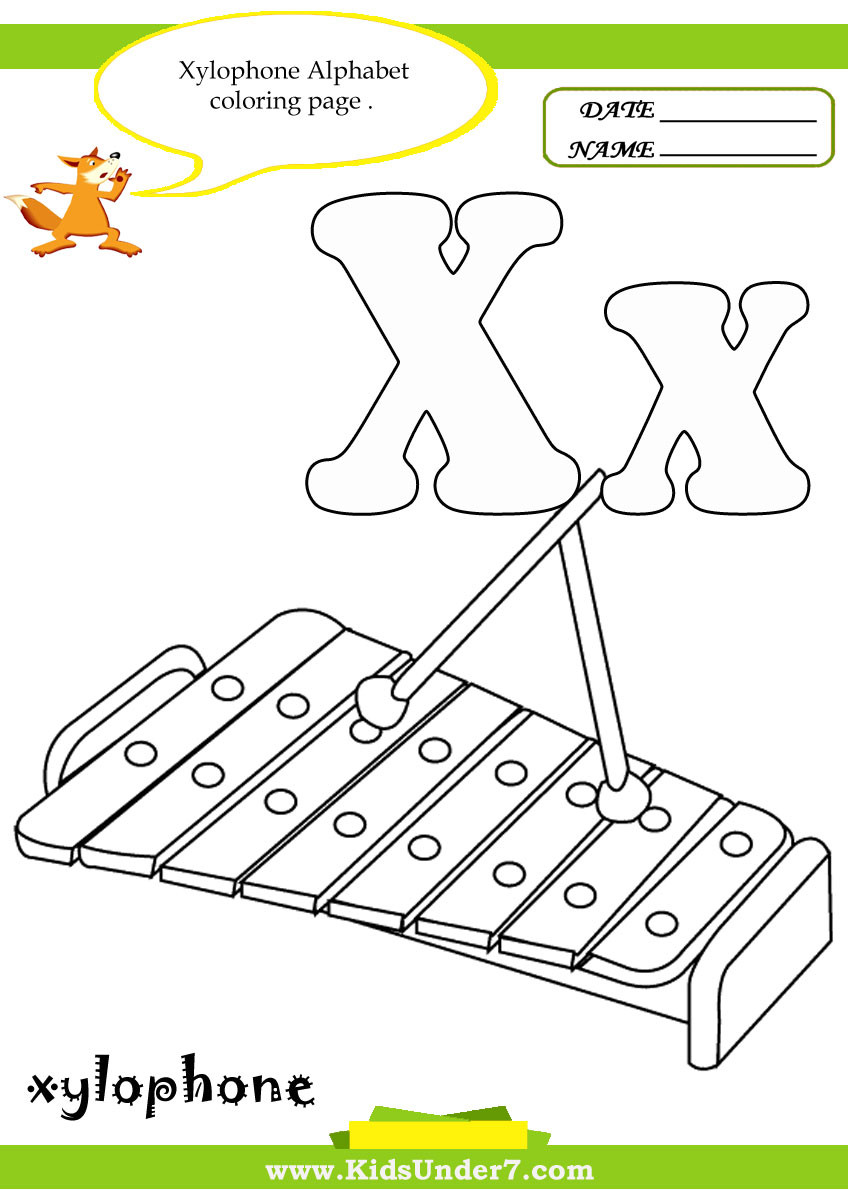 Letter X Worksheets for Preschool Kids Under 7 Letter X Worksheets and Coloring Pages