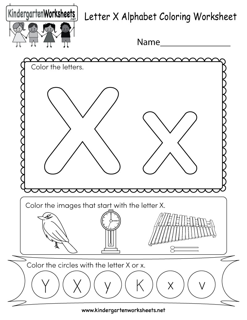 Letter X Worksheets for Preschool Letter X Worksheets for Kindergarten