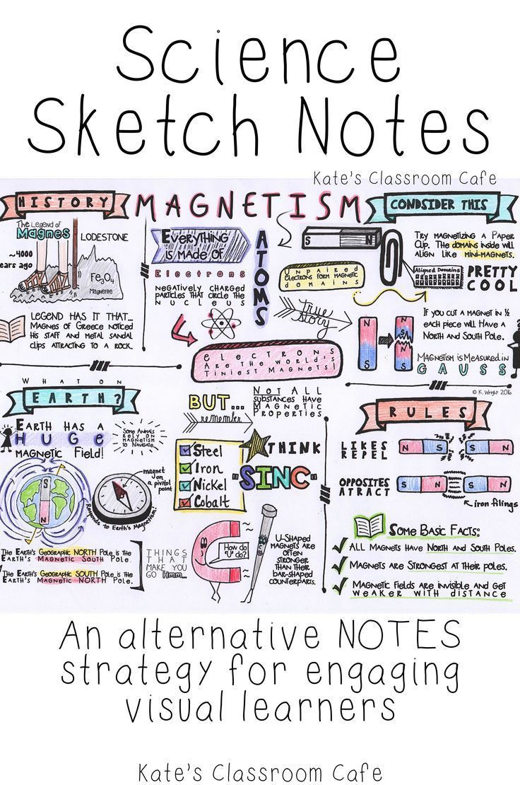 Magnetism Worksheet for High School Sketch Notes for Magnetism
