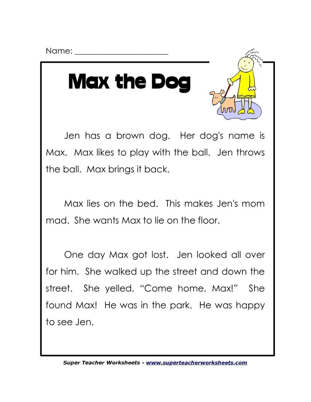 Main Idea Worksheets Grade 1 Worksheet Free Reading Prehension Worksheets Grade Htc