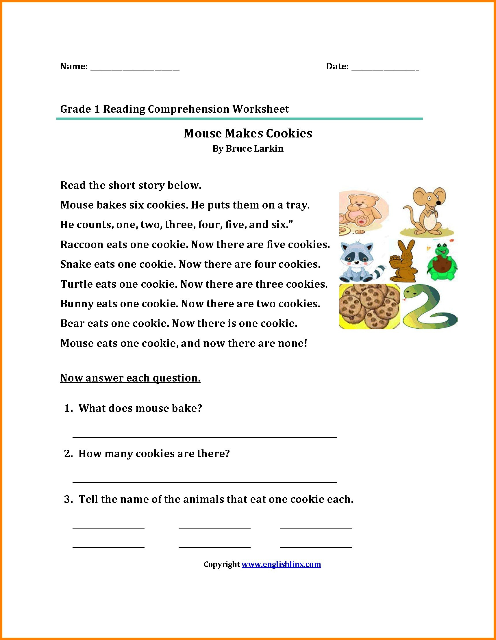 Main Idea Worksheets Third Grade Math Worksheet 42 Incredible Third Grade Reading