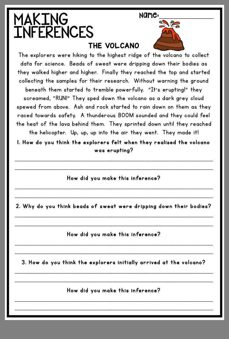 Making Inference Worksheets 4th Grade Pin by Stephanie Pugh On Inference