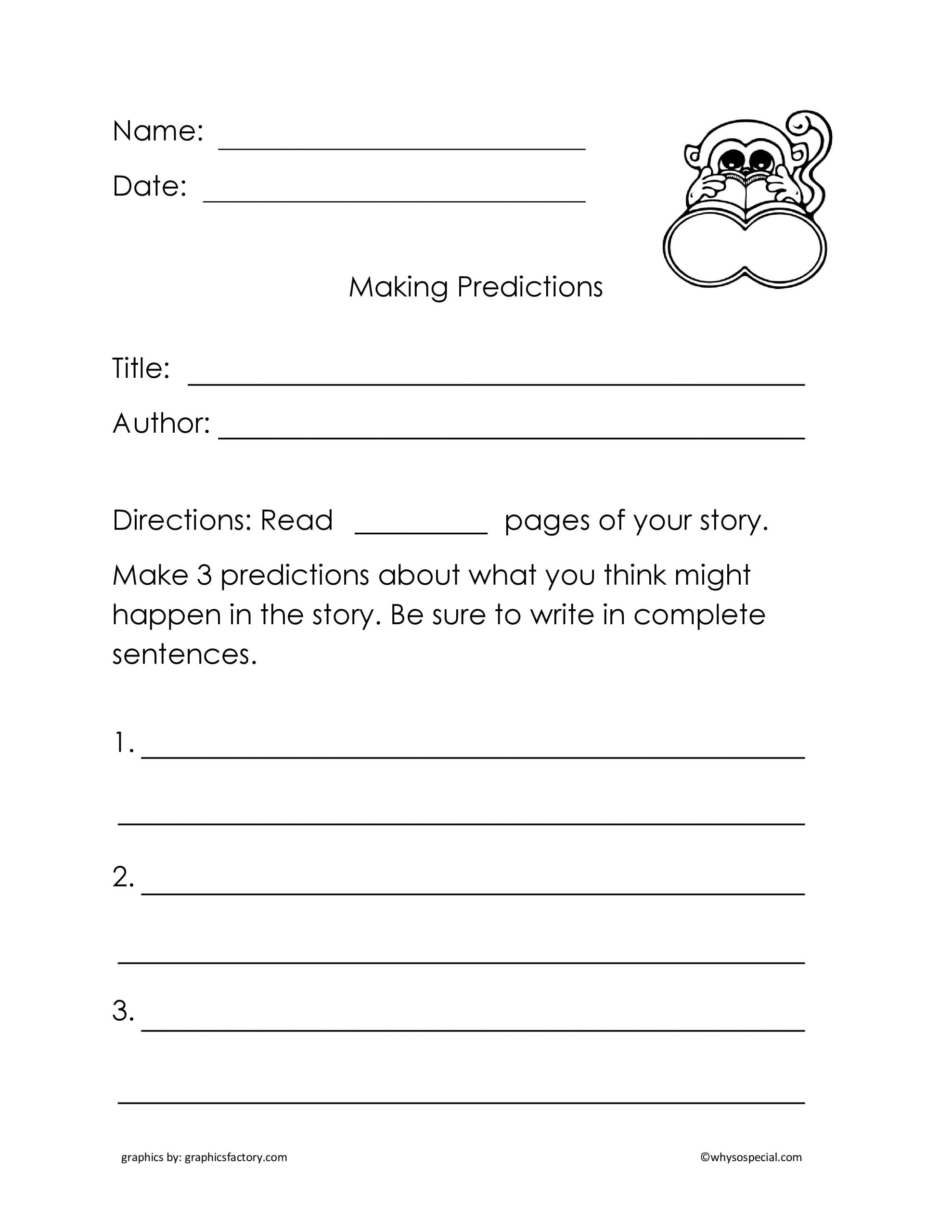 Making Predictions Worksheet 2nd Grade Making Predictions Weather Worksheet