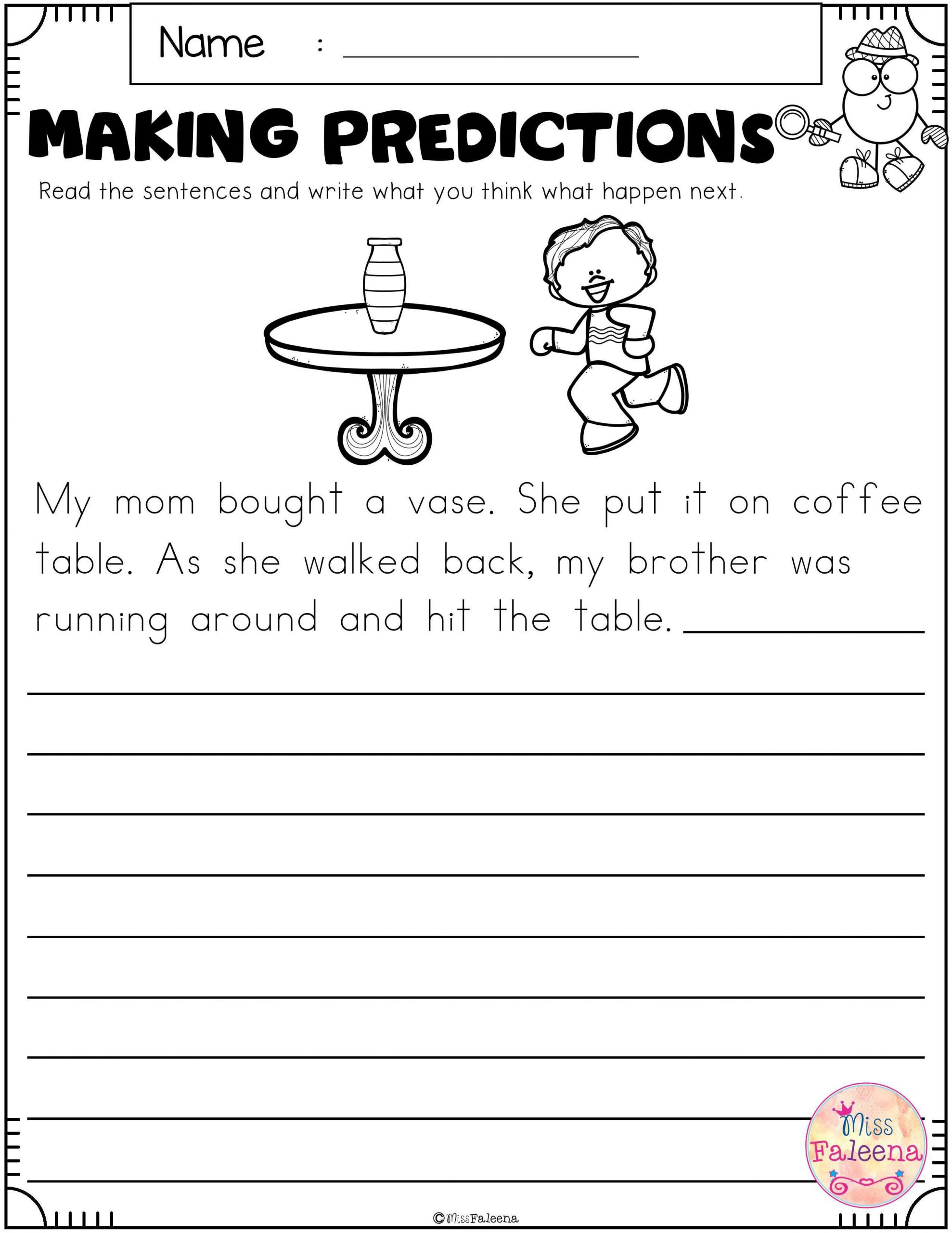 Making Predictions Worksheets 3rd Grade Free Making Predictions with Images