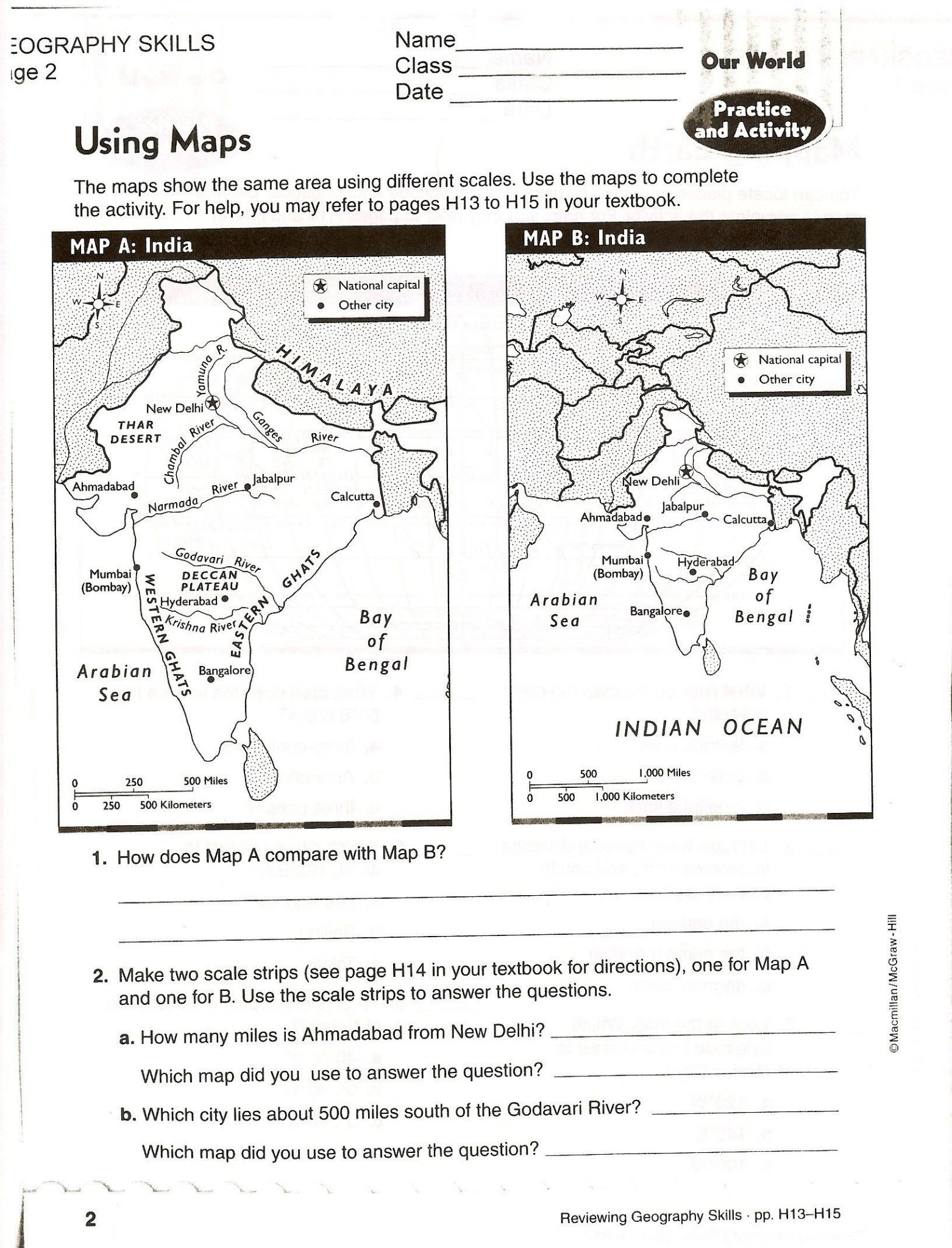 Map Worksheet 2nd Grade Map Skills Worksheets to Printable Map Skills Worksheets