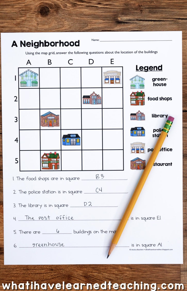 Maps Worksheets 2nd Grade Map Skills & Location social Stu S Unit