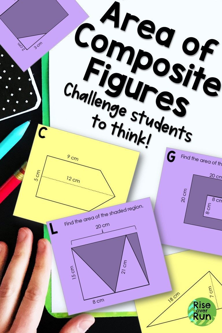 Math Aids Compound Shapes area Of Posite Figures Task Cards for 6th Grade these