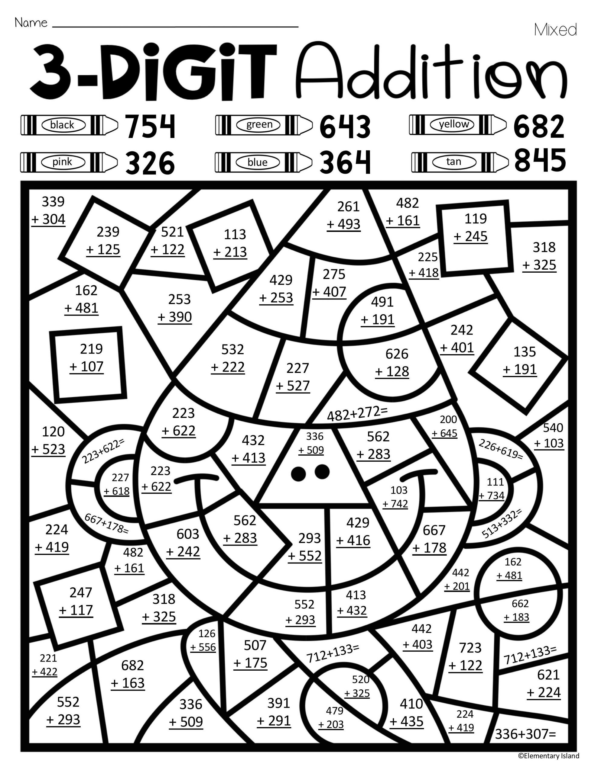 Math Coloring Worksheets 2nd Grade Math Worksheet Phenomenal Christmas Addition Coloring