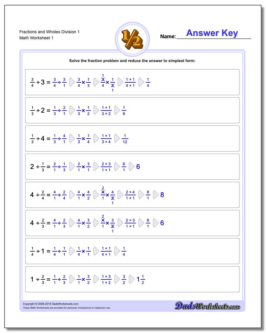 Math Conversion Worksheets 5th Grade Fraction Division