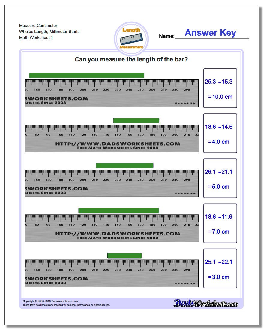 Measurement Worksheets 3rd Grade Metric Measurement