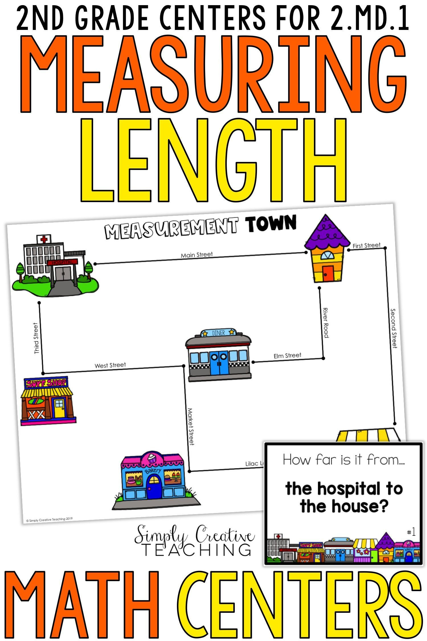 Measurement Worksheets for 2nd Grade 2nd Grade Measurement Centers for 2 Md 1