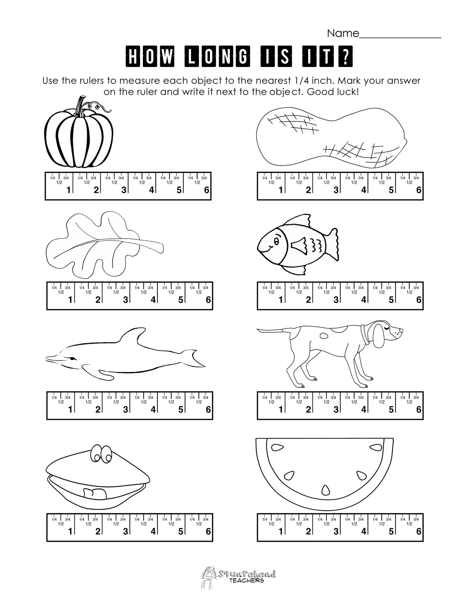 Measurement Worksheets for 2nd Grade Pin On 1st Grade Worksheets & Free Printables